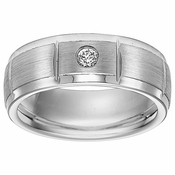 Triton 8mm Slotted Cobalt Diamond Wedding Band