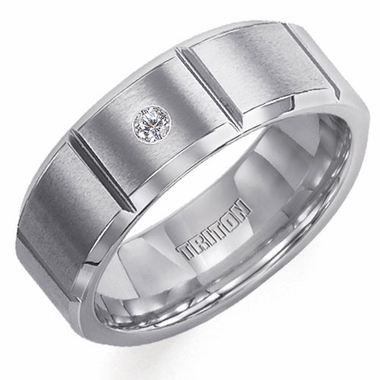 Triton 8mm Slotted Tungsten Carbide Diamond Ring