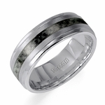 Triton 8mm Tungsten Carbide and Carbon Fiber Ring