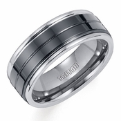 Triton 8mm Tungsten Carbide and Ceramic Ring