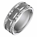 Triton 8mm Tungsten Carbide Ring with Brick Design