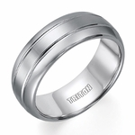 Triton 8mm Tungsten Carbide Ring with Grooves