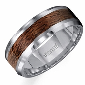 Triton 8mm Tungsten Carbide Ring with Wood Inlay