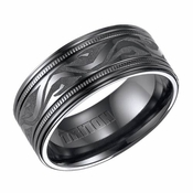 Triton 9mm Black Titanium Ring with Engravings