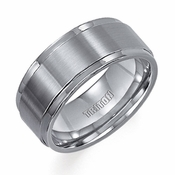 Triton 9mm Tungsten Carbide Ring with Step Edges