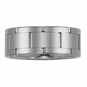 Triton 9mm Tungsten Carbide Ring with Vertical Cuts