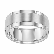 Triton 9mm White Tungsten Carbide Ring