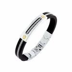 Triton Apollo Stainless Steel Bracelet with Cable Inlay
