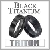 Triton Black Titanium Rings
