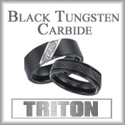 Triton Black Tungsten Carbide Rings