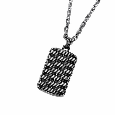 Triton Cast Steel Dog Tag with Black Antique Finish