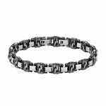 "Triton Cast Steel Woven Link Bracelet with 1/2"" Removable Extender"