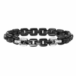 Triton Classic Box Chain Black Stainless Steel Bracelet