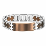 Triton Coffee Brown Stainless Steel ID Bracelet