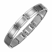 Triton Dual Finish Tungsten Carbide Bracelet