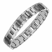 Triton Dual Finish Tungsten Carbide Watch Band Bracelet