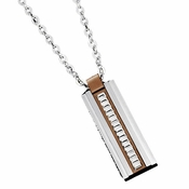 Triton Geared Brown Titanium Pendant with Stainless Steel Inlay