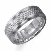 Triton Gray Carbon Fiber and Tungsten Carbide Ring