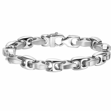 Triton H-Shaped Link Stainless Steel Bracelet