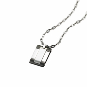 Triton Hexbolt Stainless Steel Dog Tag with Black PVD Accents