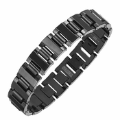 Triton Polished Black Tungsten Carbide Bracelet