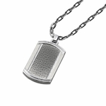 Triton Rhino Hammered Stainless Steel Dog Tag