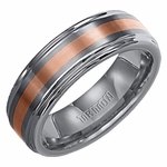 Triton Rose Gold and Tungsten Carbide Wedding Band