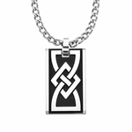 Triton Stainless Steel Dog Tag with Celtic Pattern
