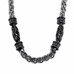 Triton Stainless Steel Necklace with Cast Components