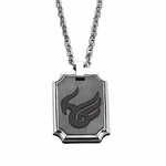 Triton Stainless Steel Phoenix Dog Tag with Titanium Inlay