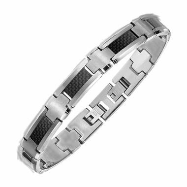 Triton Tungsten Carbide and Carbon Fiber Bracelet
