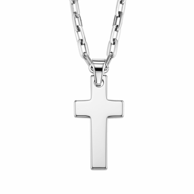 Triton Tungsten Carbide Cross Pendant