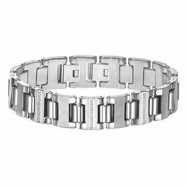 Triton Tungsten Carbide Link Diamonds Bracelet