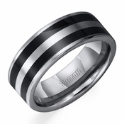 Triton Tungsten Carbide Ring with Black Epoxy Inlay