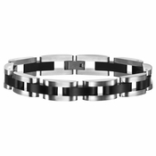 Triton Two-Tone Black and Gray Stainless Steel Bracelet