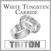 Triton White Tungsten Carbide Rings