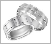 White Tungsten Carbide Bands