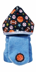 All Sports Hooded Towel on Blue