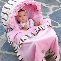 Baby Bella Maya Pixie Stix Car Seat Cover & Blanket Set
