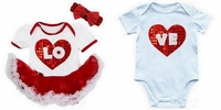 Baby Boy and Girl Twin Valentine Set - Valentines Baby Gifts For Boys and Girls