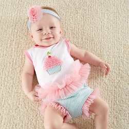 """Baby Cakes"" 2-Piece Cupcake Outfit by Baby Aspen"