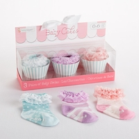 �Baby Cakes� Cupcake Socks Gift Set by Baby Aspen