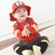 Baby Firefighter Two-Piece Layette Set in Firefighter-themed Gift Box