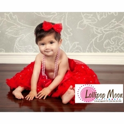 Baby Girls Holiday Red Pettiskirt - Holiday Baby Clothes and Toddler Pettiskirts