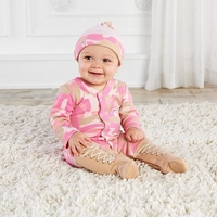 Big Dreamz Girl Pink Camo 2 Piece Footie and Hat Gift Set - 0-6M