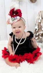 Black & Red Pettiskirt Set - Infant Pettiskirt Set