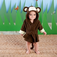 """Born to be Wild"" Monkey Hooded Spa Robe"