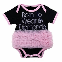 Born To Wear Diamonds Tutu Onesie