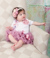 Sweetheart Rose   Baby Girl Dusty Rose Tutu Set