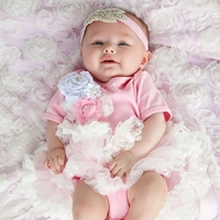 Sweetheart Rose Pink & White Tutu Set - Newborn Baby Girl Gifts